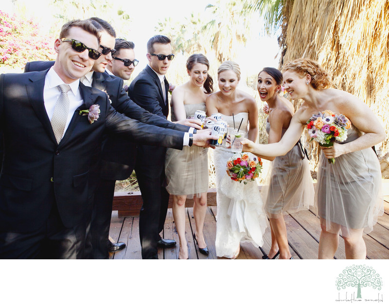 Palm Desert Fun Wedding Party photographs