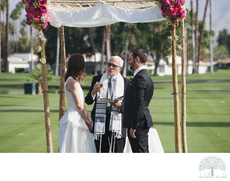 Rancho Las Palmas Jewish Wedding photographer