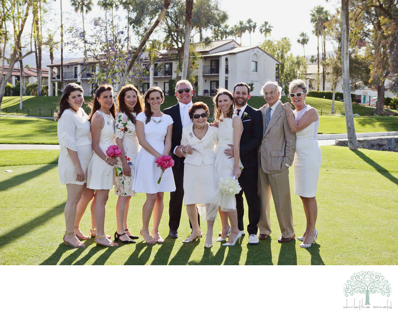 Family groups Rancho Mirage wedding