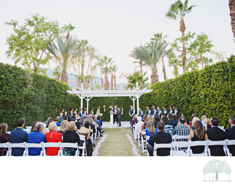 Outdoor Ceremony Photographs Coachella Valley