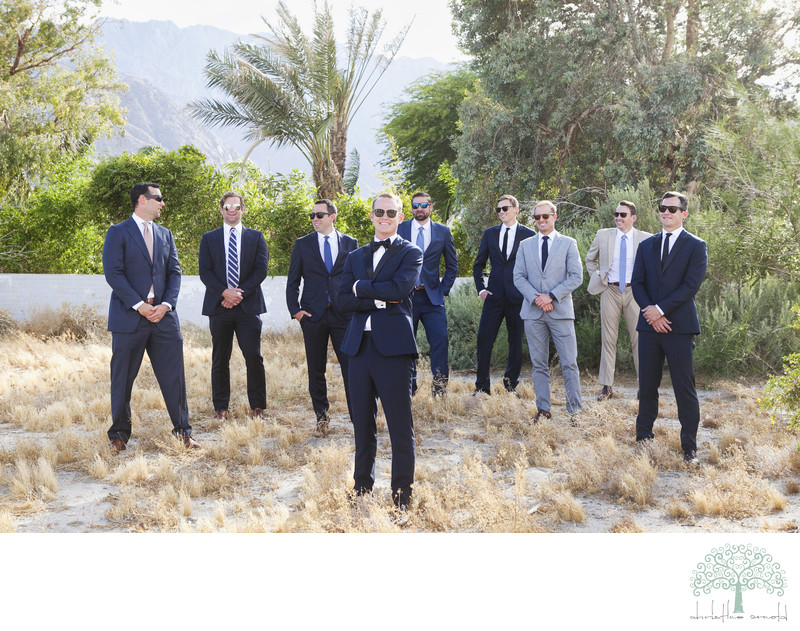 Grooms portraits Colony Palms Palms Springs Wedding
