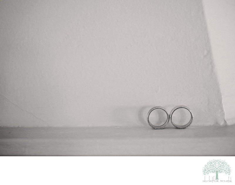 Grooms rings at the O'Donnell House, Palm Springs California