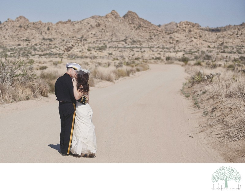 Joshua Tree Military Wedding Photography