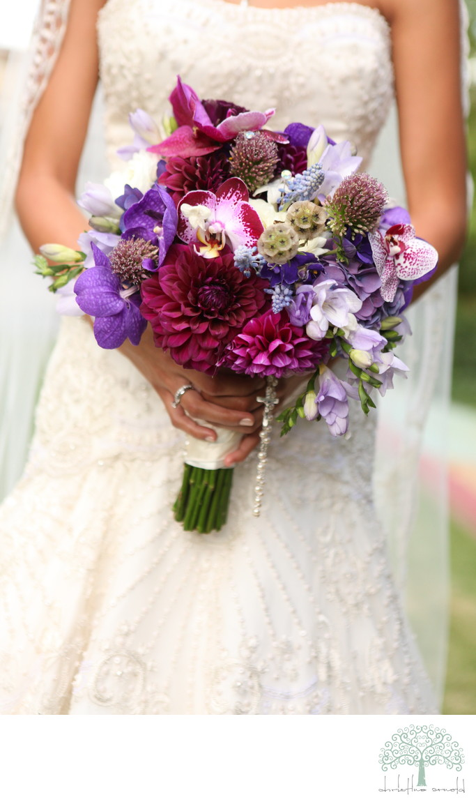 Riviera Palm Springs Wedding Bouquet in Purple and pink