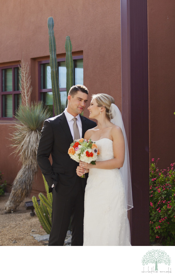 Outdoor wedding portraits Palm Desert