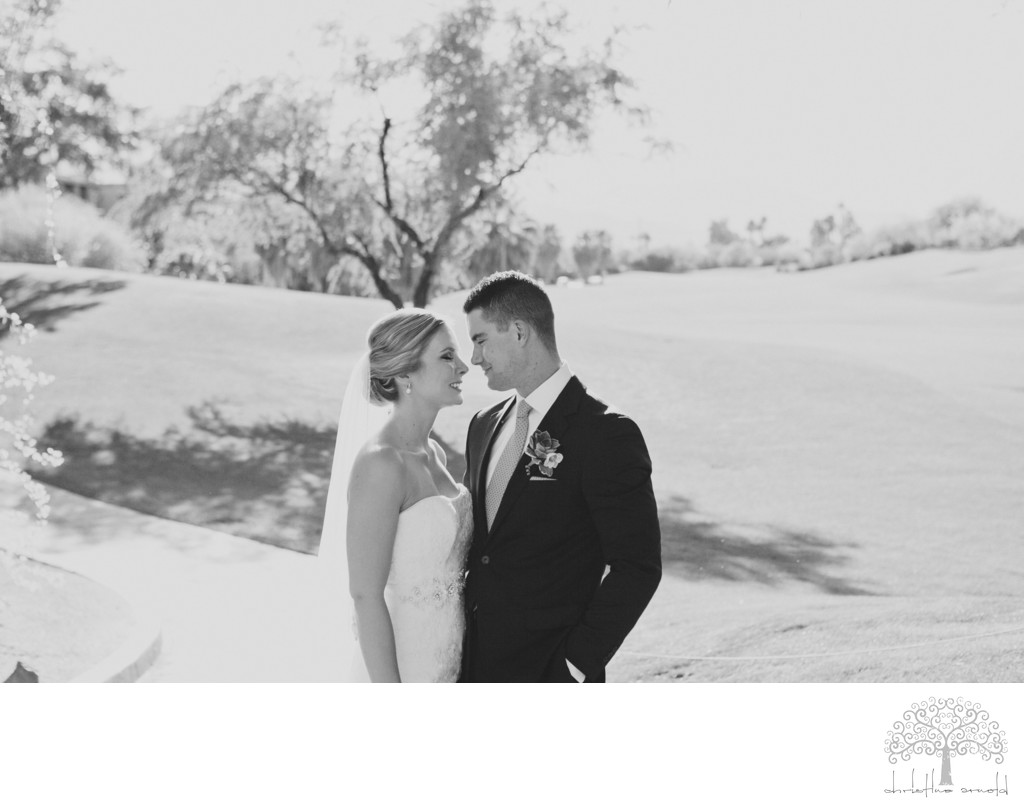 Black and white photography Palm Desert wedding