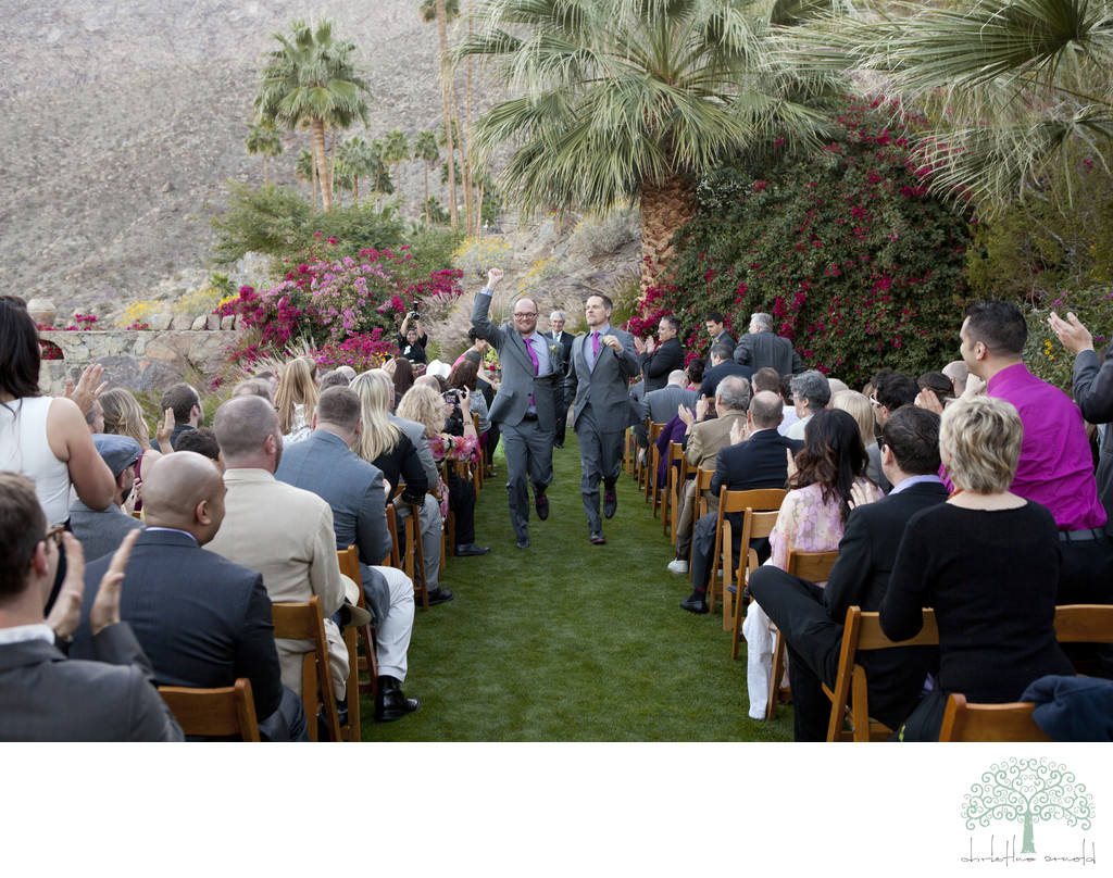 Ceremony lawn O'Donnell House Palm Springs