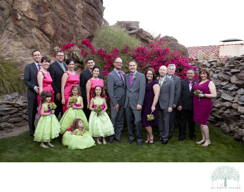 Wedding Party photographs in Palm Springs