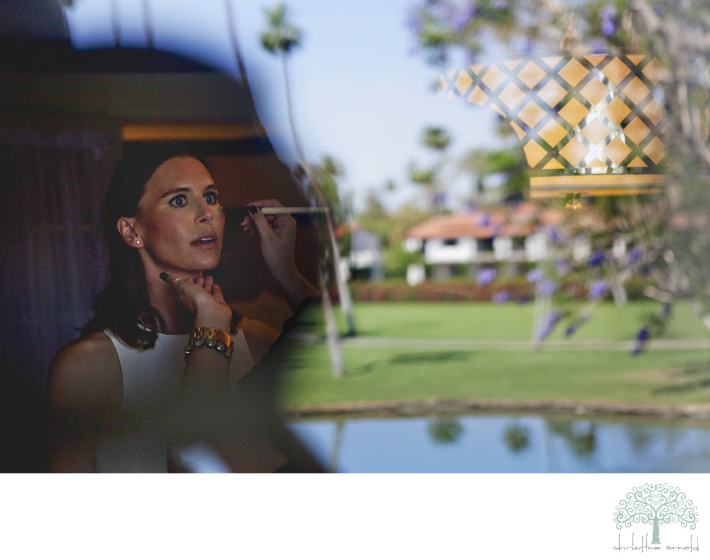 Bridal prep Rancho Mirage wedding photos