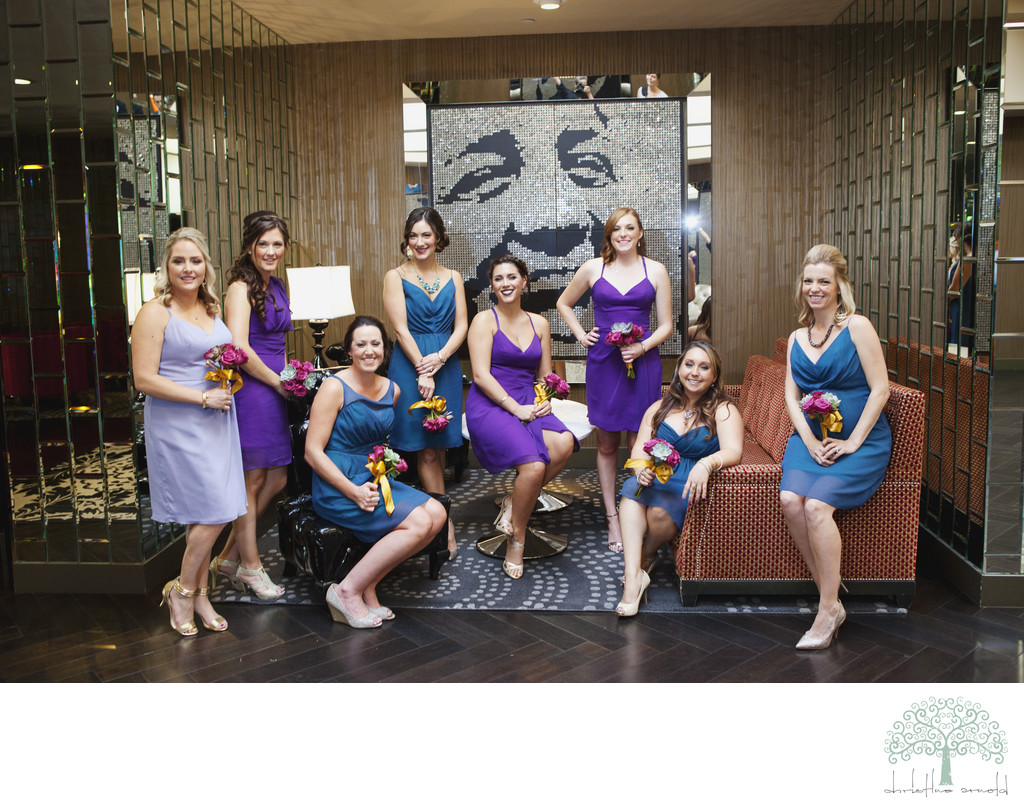 Fun Wedding Party Images Riviera Palm Springs