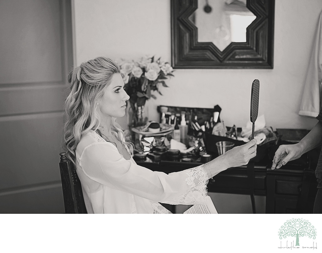 Bride getting ready Colony Palms Photos