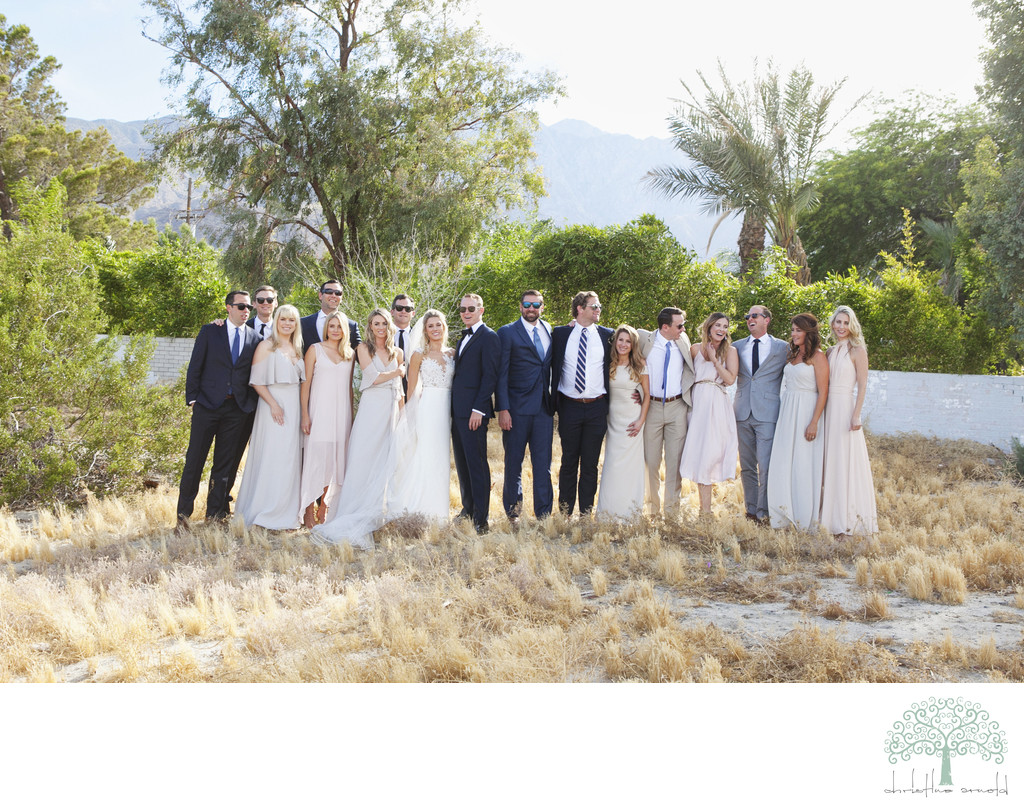 Palm Springs desert wedding photography portraits