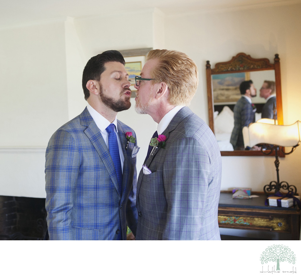 Grooms getting ready photography Palm Springs California