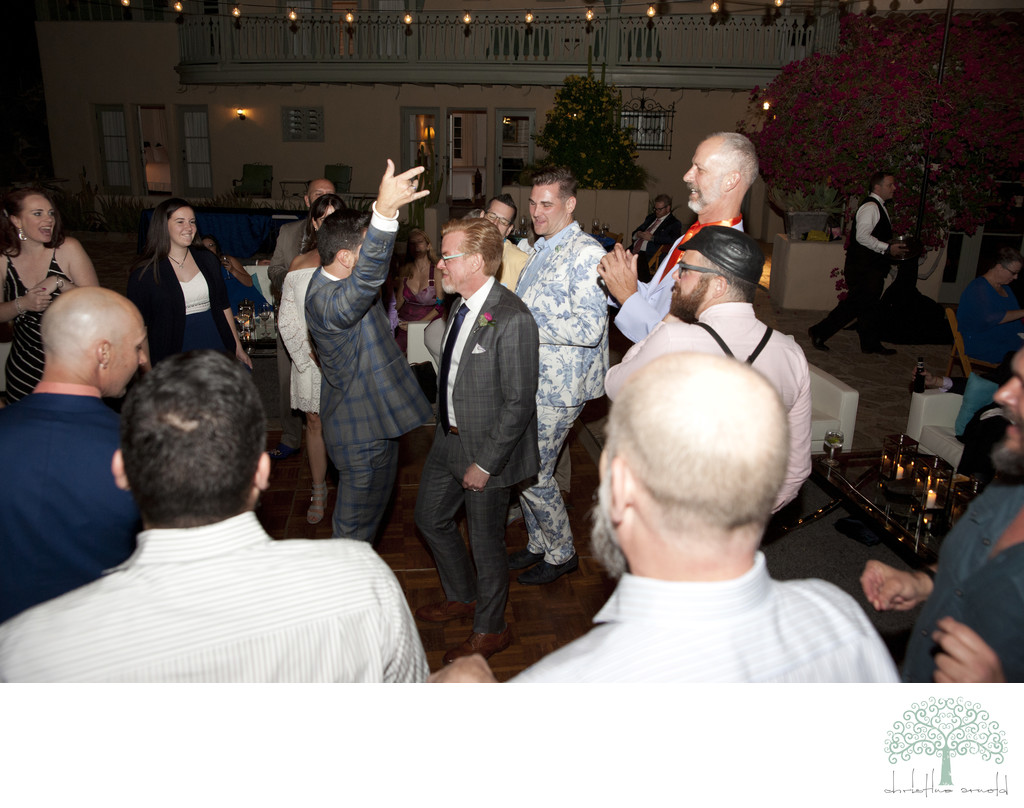 Dancing photos Palm Springs LGBTQ wedding