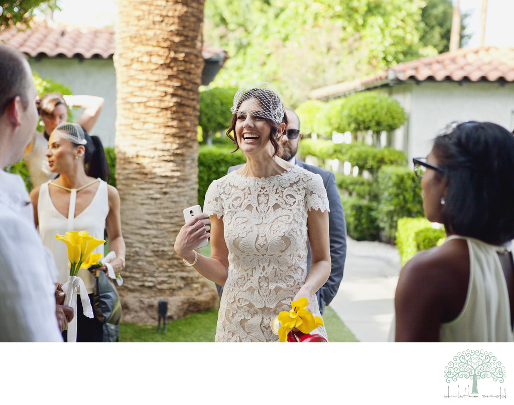 Happy wedding party snaps at Avalon Hotel Palm Springs