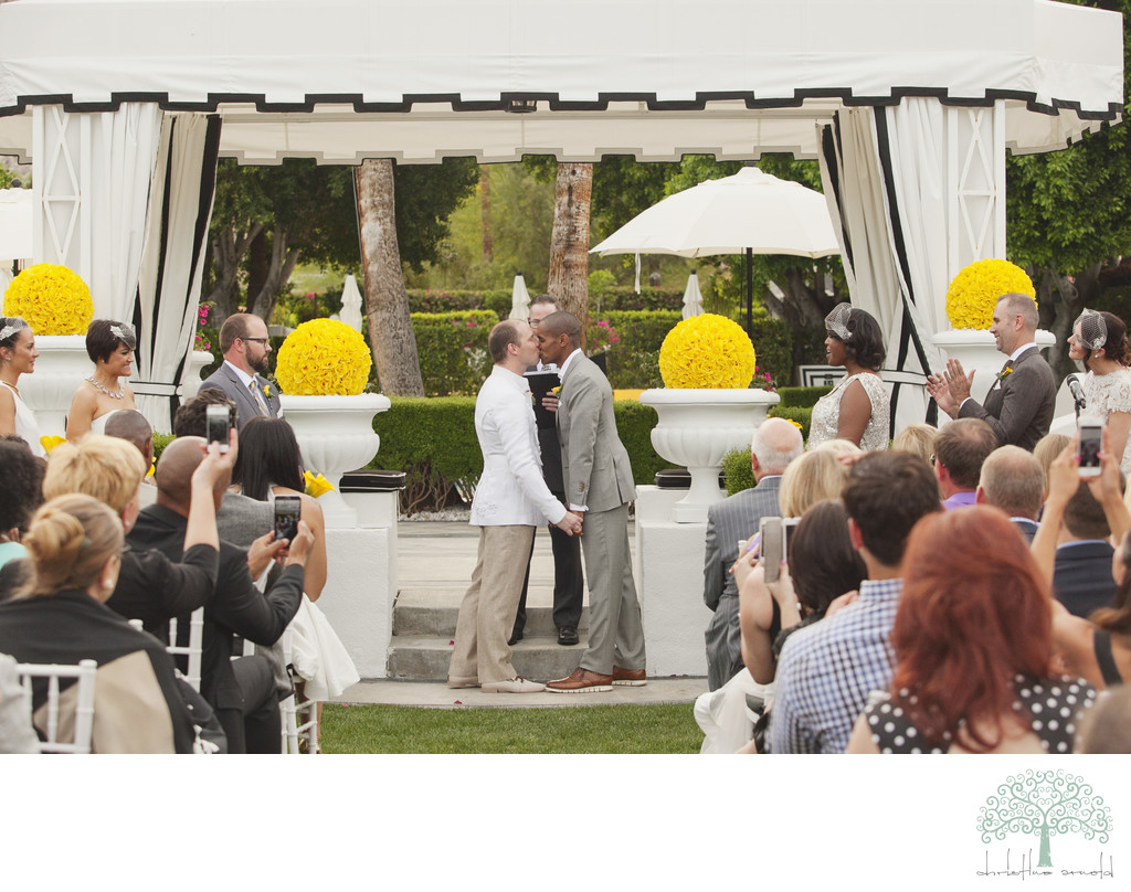 LGBTQ wedding ceremony photos Palm Springs California