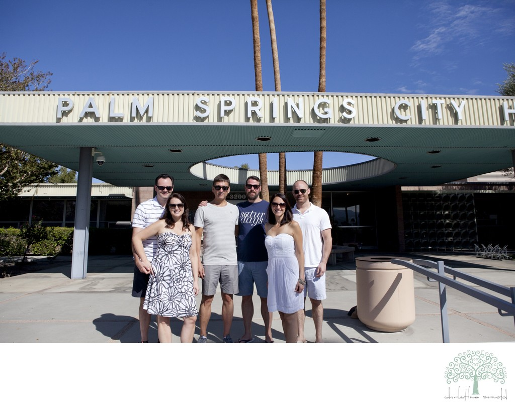Palm Springs City Hall Elopement Photographer