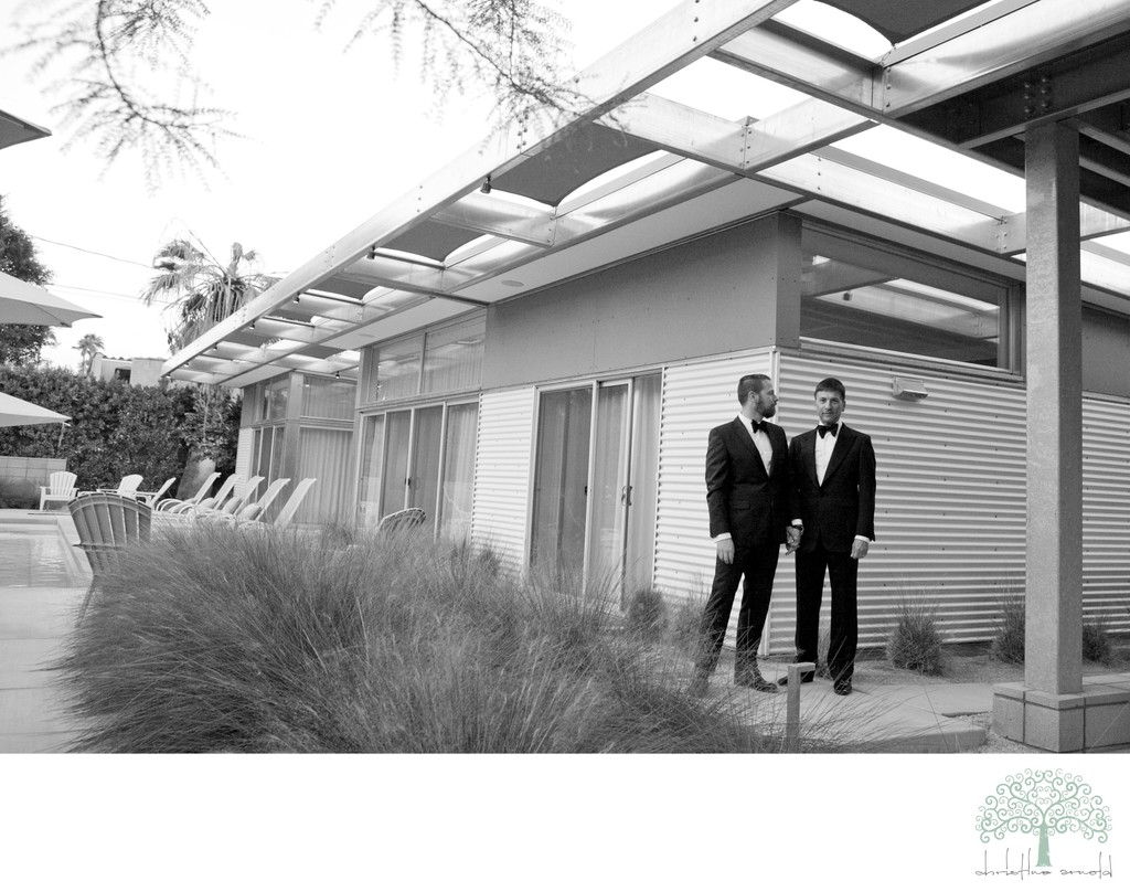 Palm Springs Wedding Photojournalism - Two Grooms