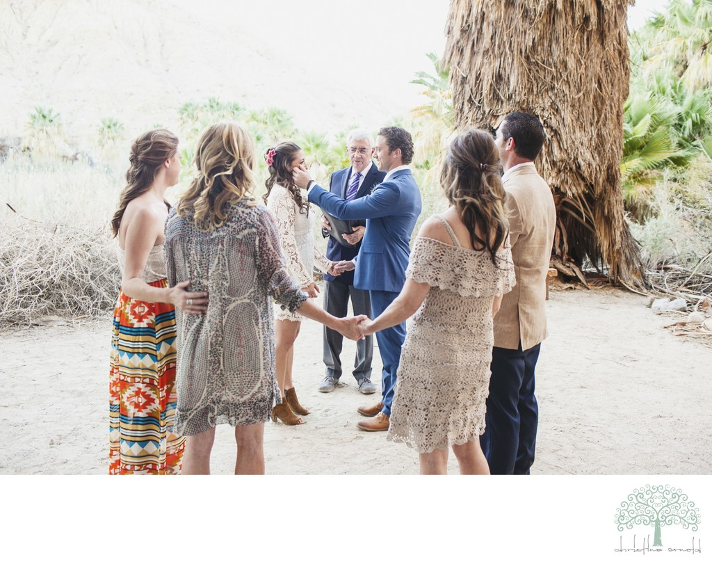 Elopements in Palm Springs, Ceremony Under Tree