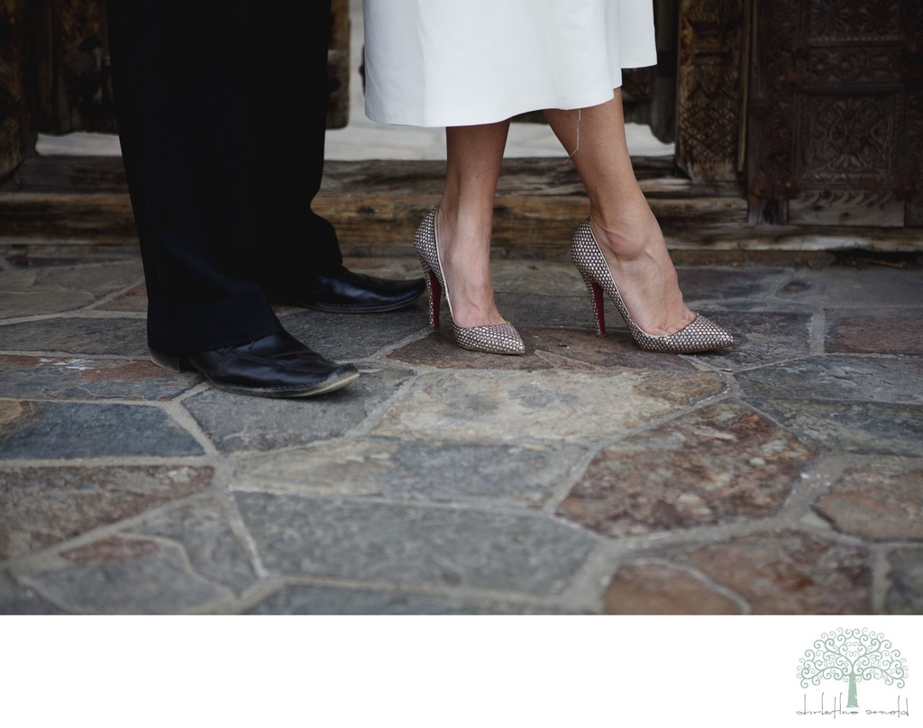 Palm Springs Wedding Details - Shoes on Bride and Groom