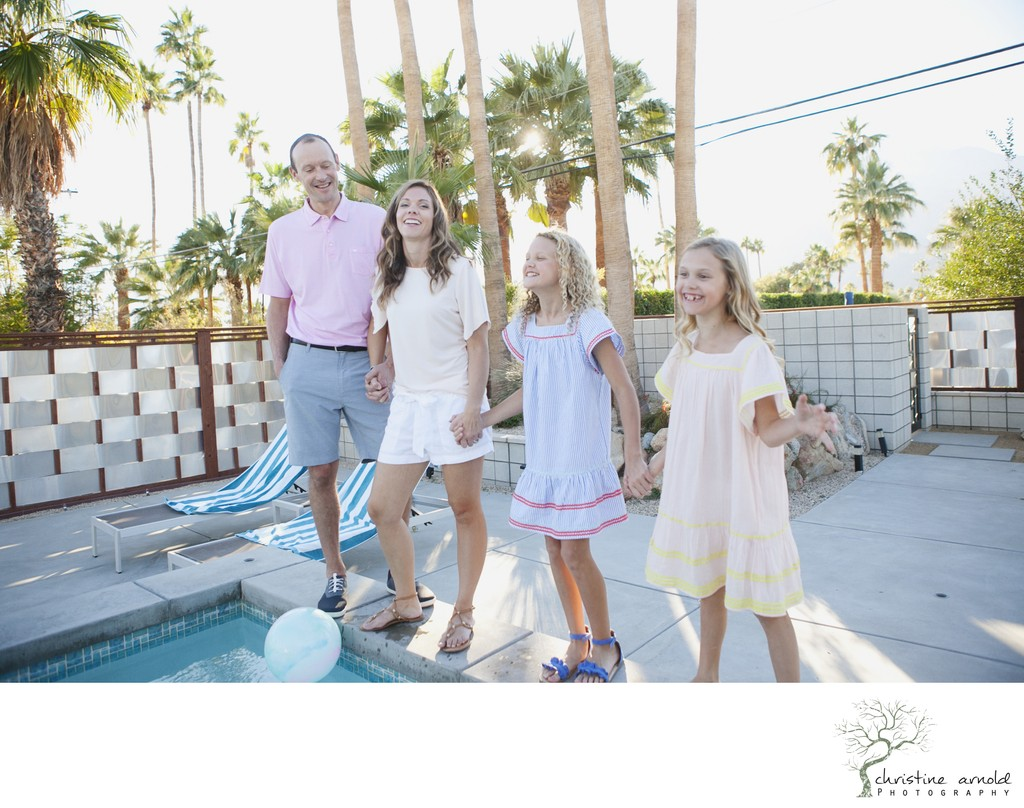 Lifestyle and candid family photo session, Palm Springs