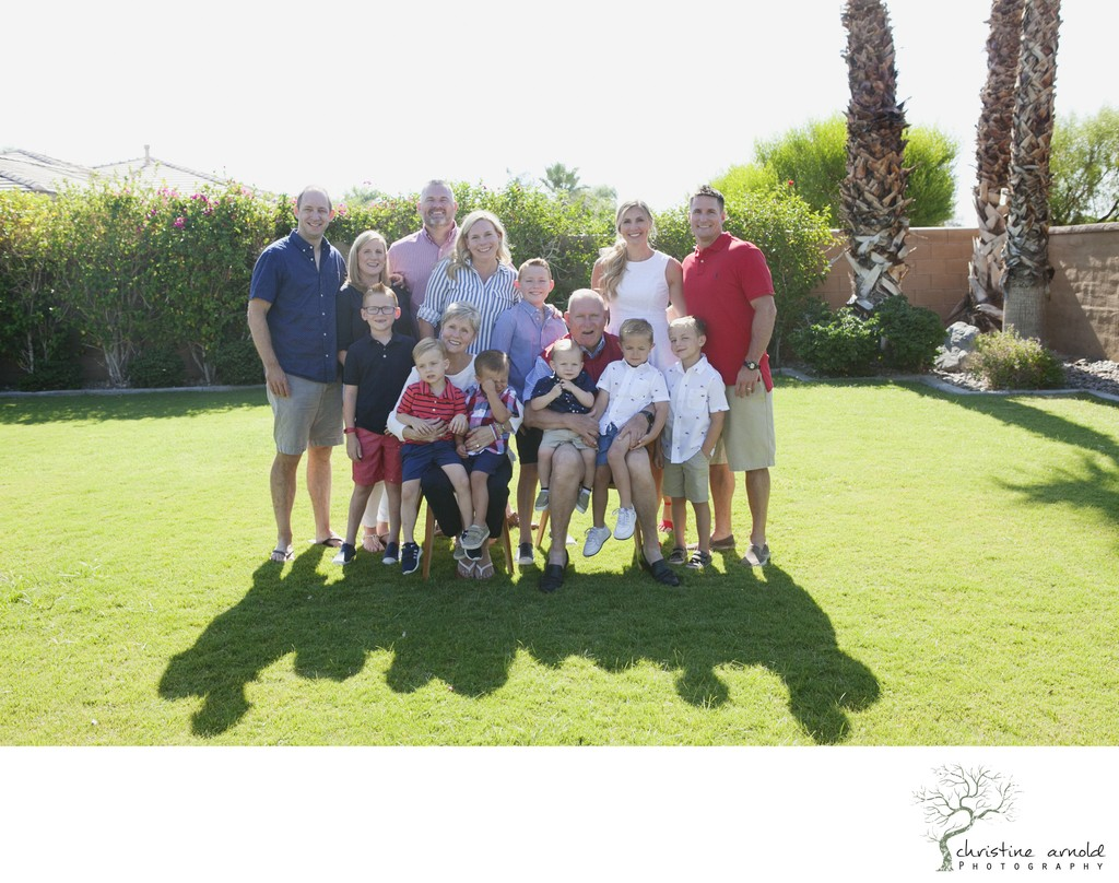 Family reunion photography in near Coachella Ca.