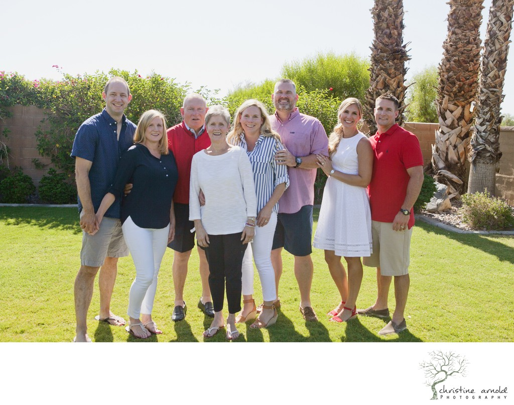Family gathering photos at home in Indio California