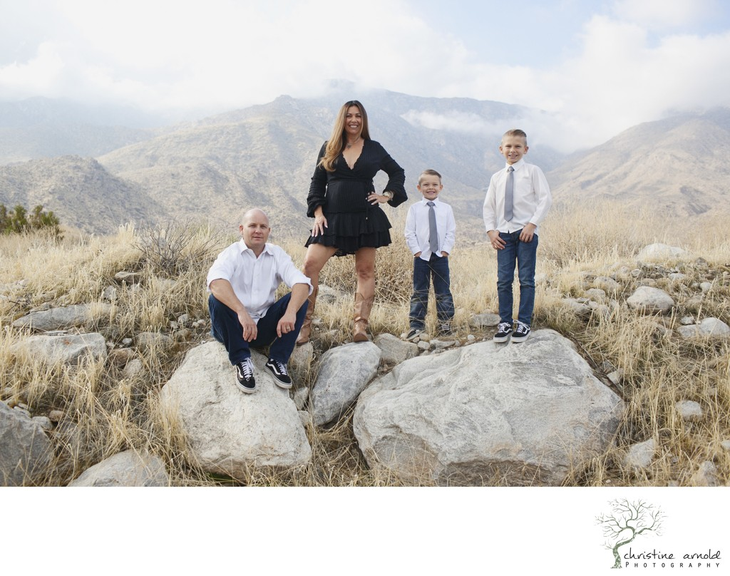 Fun family photos near Oswit Canyon in Palm Springs Ca