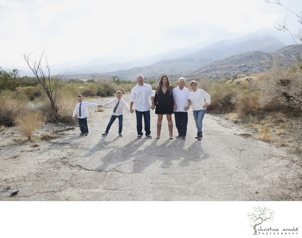 Desert family photo session in South Palm Springs