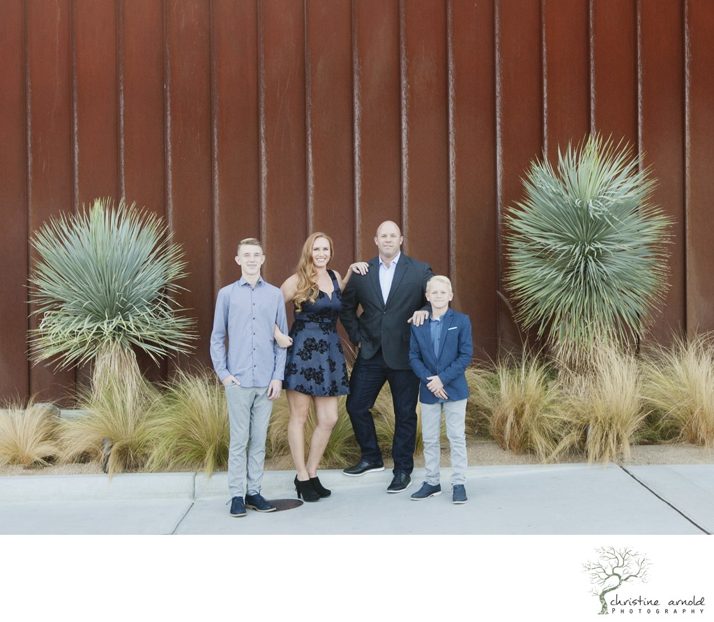 Casual and fun family photos at Arrive in Palm Springs