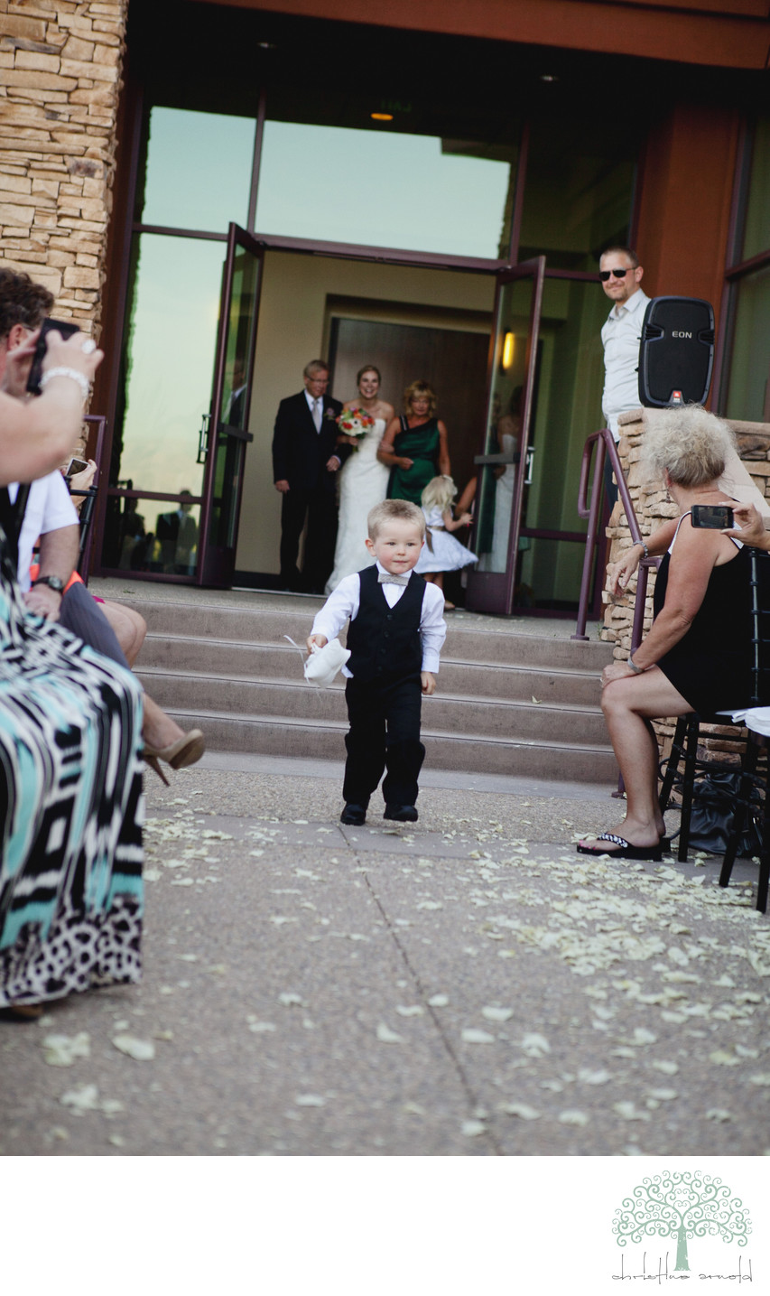 Cute Ring Bearer at Wedding Desert Willow Golf Course