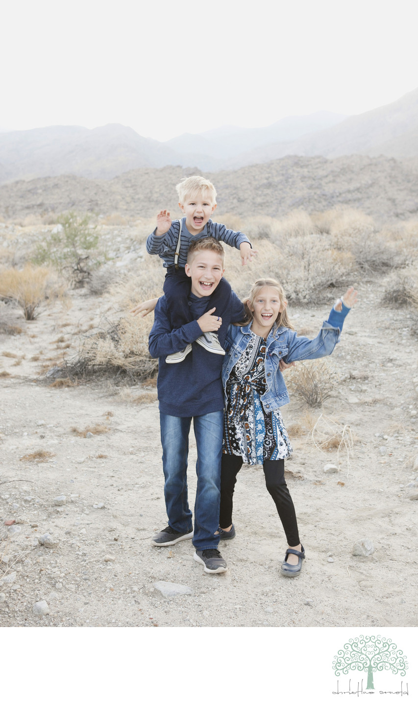 Fun family photo session in Palm Springs California