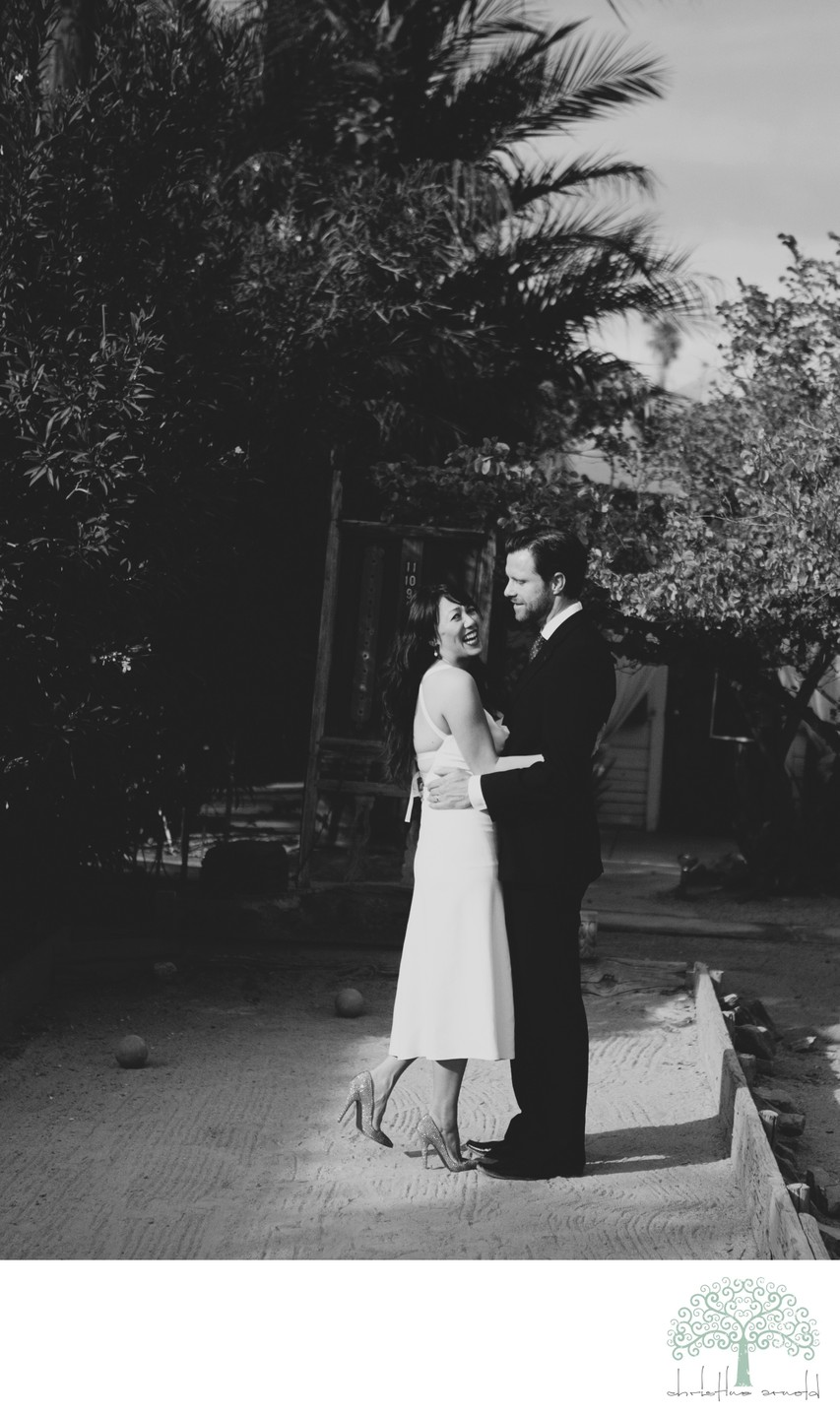Black and White Wedding Photography in Palm Springs