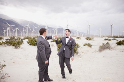Palm Springs Same Sex Wedding desert photo session