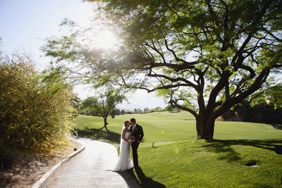 golf course wedding pics Desert Willow resort