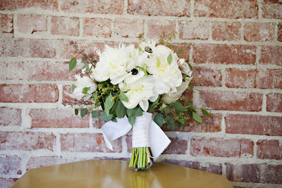 Artisan Events bouquet using peonies and anemones