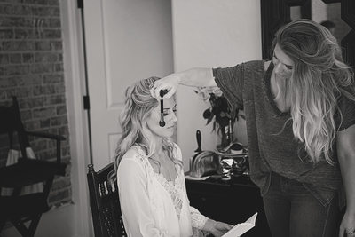 Bridal preparation at Colony Palms Hotel Palm Springs CA