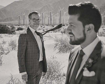 Unique same-sex wedding photography in Palm Springs