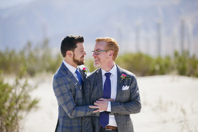 Creative Palm Springs gay wedding photography portraits