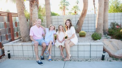 Casual groups portraits, Palm Springs California