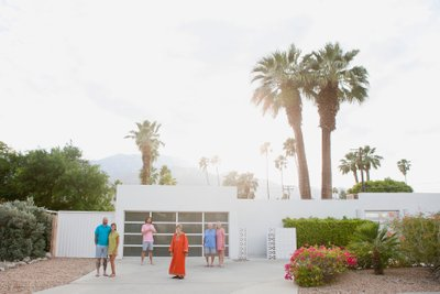 Mid-Century Palm Springs family photography