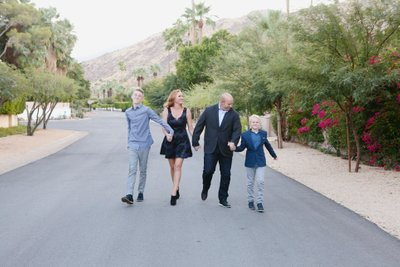 Urban family photos Palm Springs California