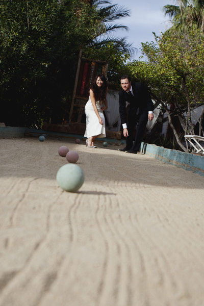 Best elopement photographer at Korakia Palm Springs