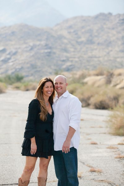 beautiful couples portraits outdoors in Palm Springs Ca