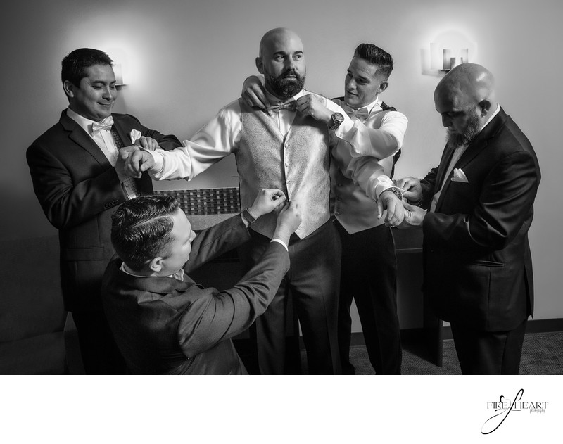 Groomsmen Houston wedding photographer