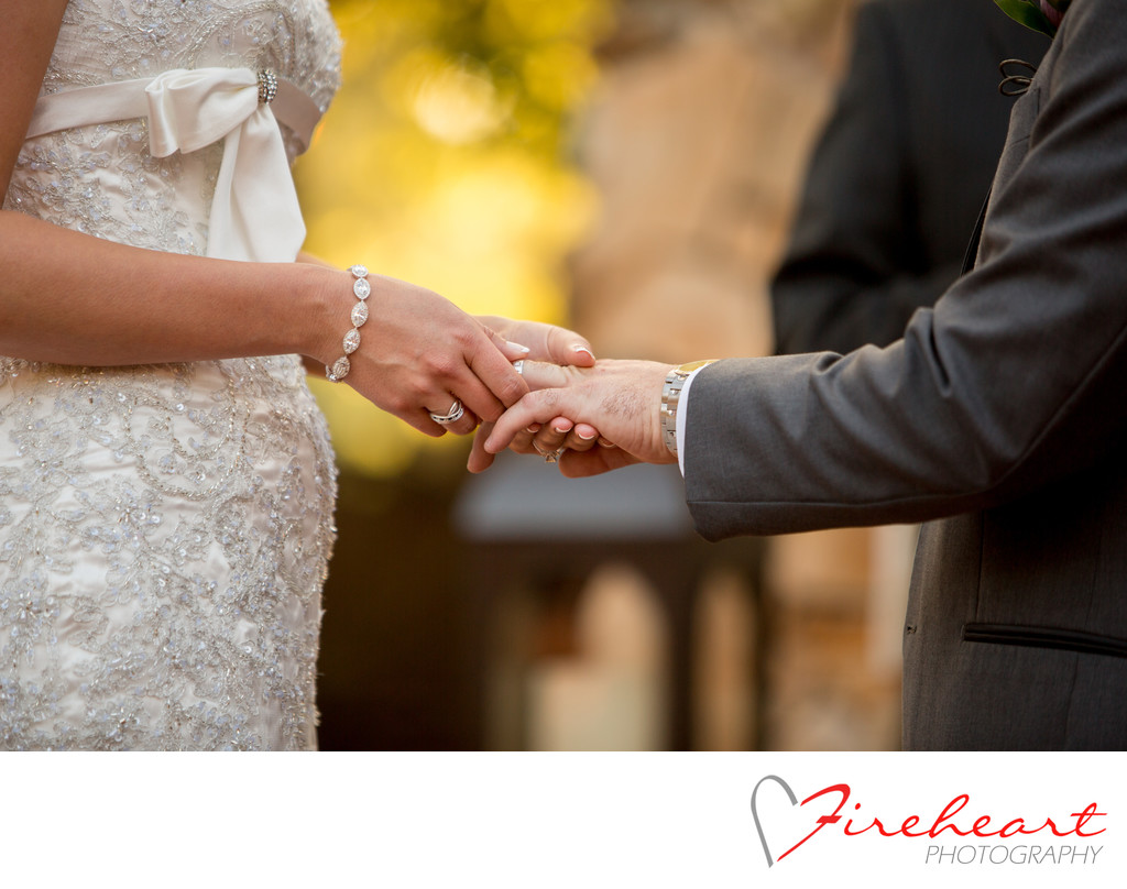 The perfect ring exchange at your Maderia Estates wedding