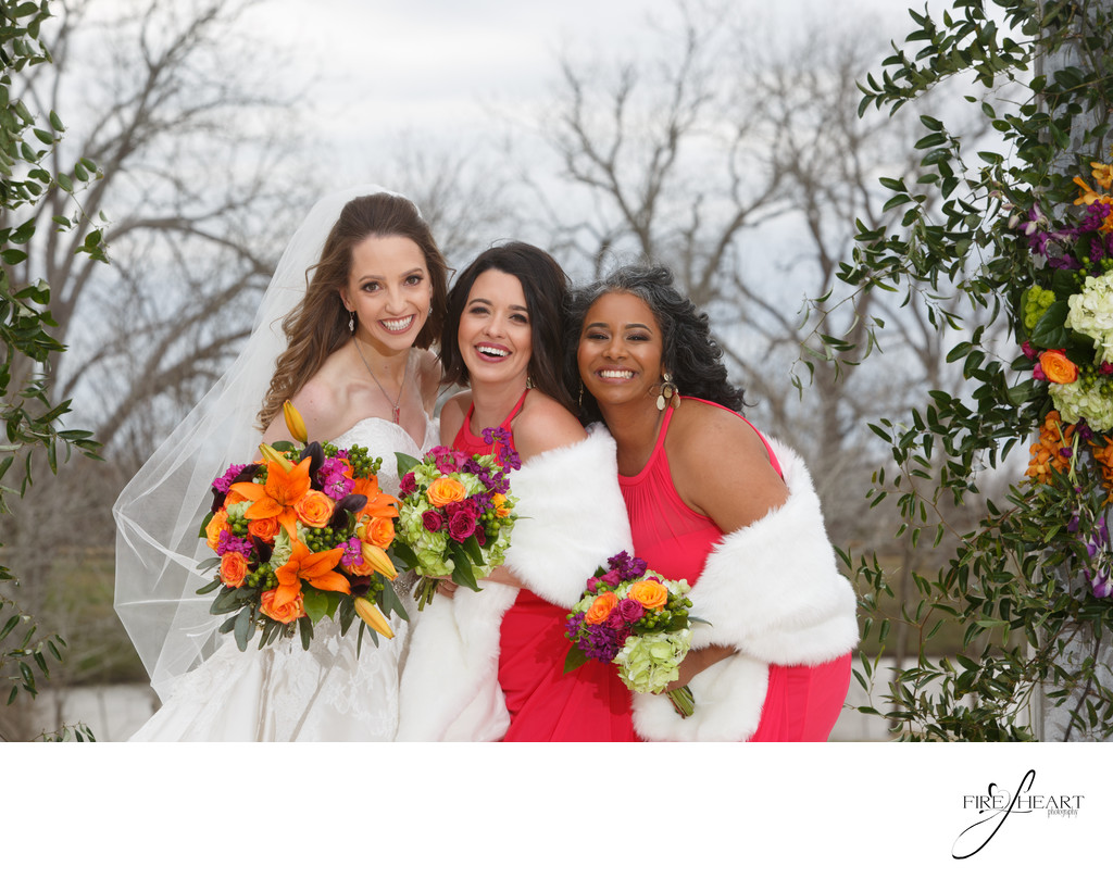 Winter wedding at white oak bayou wedding photographer