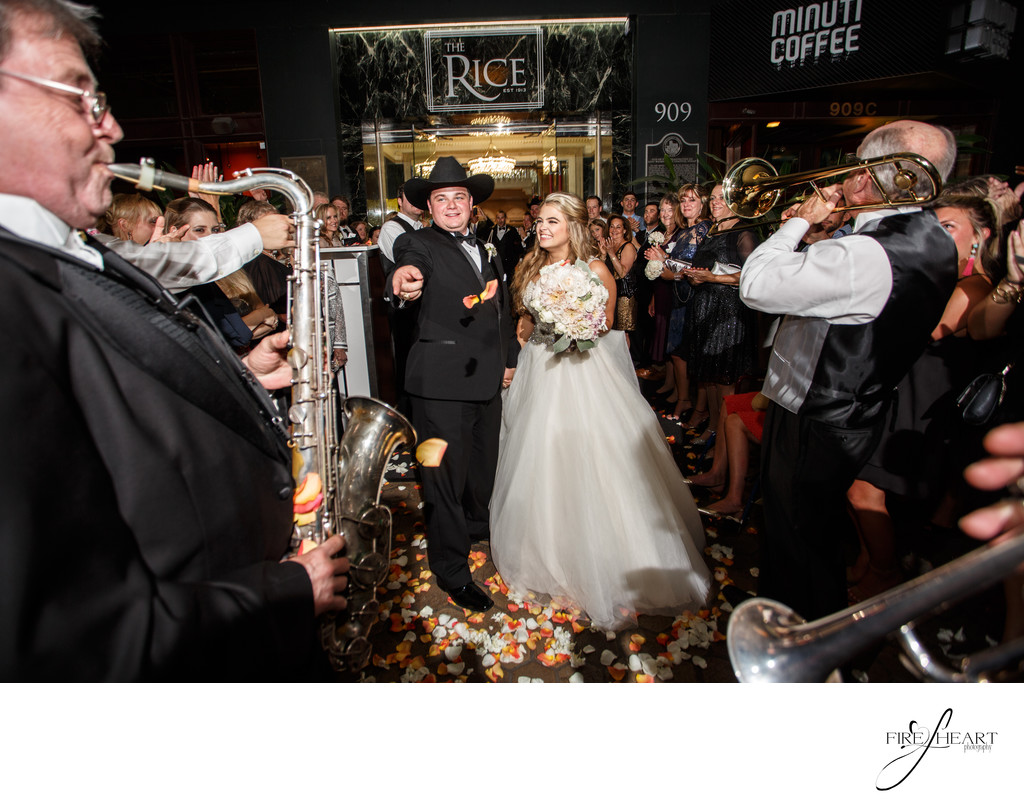 crystal ballroom wedding exit