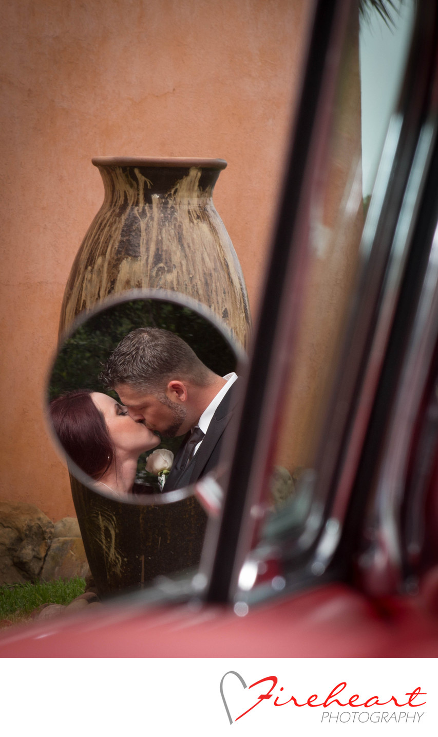 Wedding reflections in Mirror