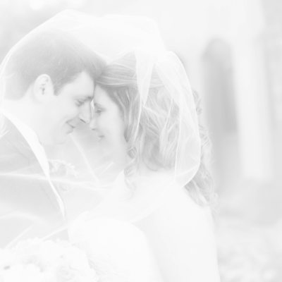 high key wedding photos of bride and groom